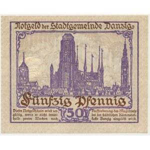 Danzig, 50 pfennig 1919 - purple