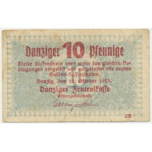 Gdańsk 10 fenigów 1923 Październik - znw. KOGA -
