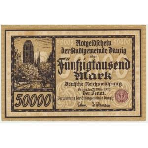 Danzig, 50.000 mark 1923 - PMG 64