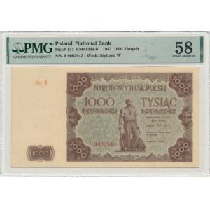 1.000 złotych 1947 - B - PMG 58