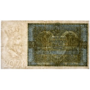 20 złotych 1926 - F - PMG 20 - RZADKOŚĆ