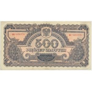 500 złotych 1944 ...owe - BO - ładny