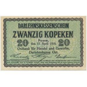 Poznań, 20 kopiejek 1916 - świeży