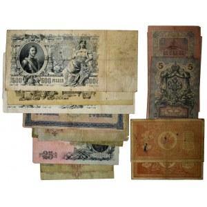 Rosja, zestaw 1-1.000 rubli 1898-1917 (25 szt.)