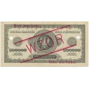 500.000 marek 1923 - WZÓR - K 123456 ❉ - RZADKI