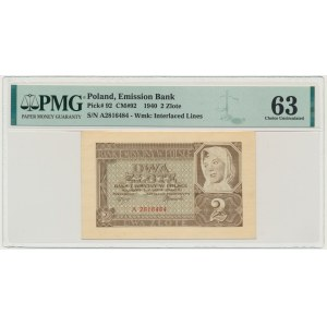 2 złote 1940 - A - PMG 63 EPQ