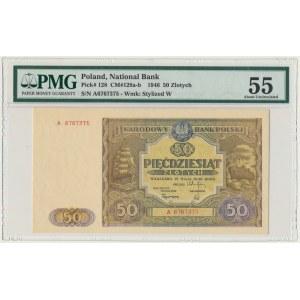 50 złotych 1946 - A - PMG 55 - pierwsza seria
