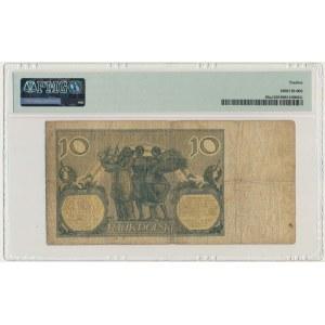 10 złotych 1926 - Ser.CY - PMG 12