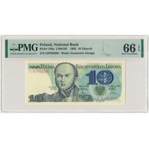 10 złotych 1982 - G - PMG 66 EPQ