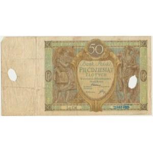 50 złotych 1929 - Ser.EM. -