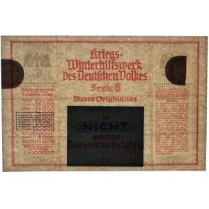 Pomoc Zimowa Ludności Niemieckiej, kupon na loterie o wartości 50 fenigów 1939