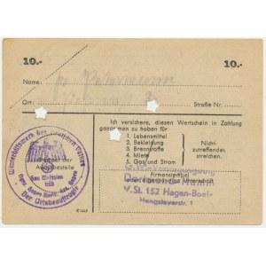 Pomoc Zimowa Ludności Niemieckiej, 10 marek 1944 - D -