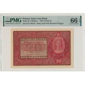 20 marek 1919 - II Serja CP - PMG 66 EPQ