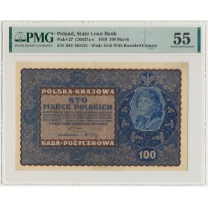100 marek 1919 - IH Serja Y - PMG 55