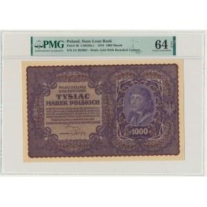 1.000 marek 1919 - II Serja A - PMG 64 EPQ - RZADKA