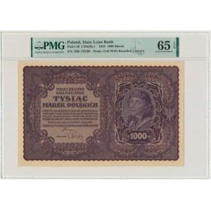 1.000 marek 1919 - I Serja BB - PMG 65 EPQ