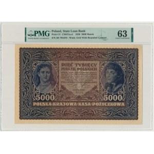 5.000 marek 1920 - III Serja H - PMG 63