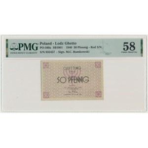 50 pfennig 1940 red numerator - PMG 64
