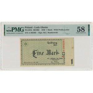 1 mark 1940 A series - 6 digit series - PMG 64 EPQ