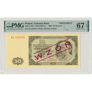 50 złotych 1948 WZÓR - EL - PMG 67 EPQ