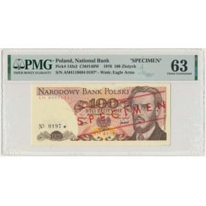 100 złotych 1976 - WZÓR AM - No.0197 - PMG 63