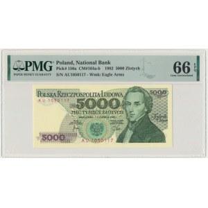 5.000 złotych 1982 - AU - PMG 66 EPQ