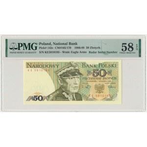 50 złotych 1988 - KE - PMG 58 EPQ