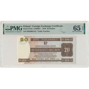 Pewex, 20 dolarów 1979 - HH - PMG 65 EPQ