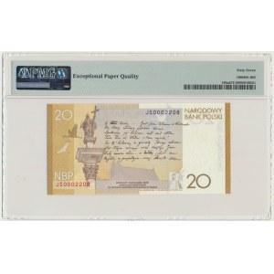 20 złotych 2009 - Juliusz Słowacki - PMG 67 EPQ - niski numer seryjny