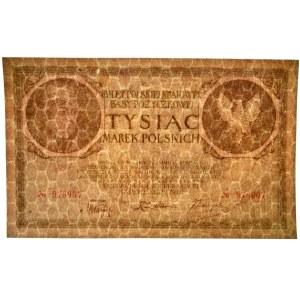 1.000 marek 1919 - bez serii - RZADKIE I PIĘKNE
