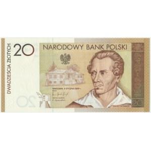 20 złotych 2009 - JS 0000035- Juliusz Słowacki - skrajnie niski numer seryjny