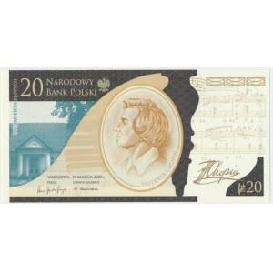 20 złotych 2010 - Fryderyk Chopin