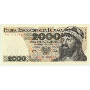 2.000 złotych 1979 - AB -