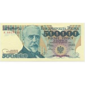 500.000 złotych 1990 - K -