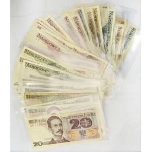 Zestaw banknotów PRL 20-5.000 złotych (ok. 65 szt.)