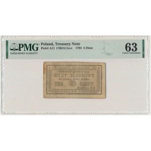 4 złote 1794 (2)(D) - PMG 63
