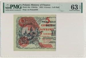 5 groszy 1924 - lewa połowa - PMG 63 EPQ