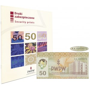 PWPW, 50 Gmach PWPW (2011) - w folderze emisyjnym