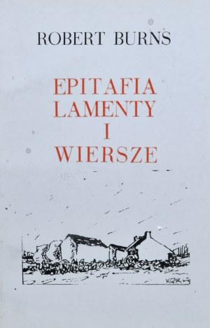Burns Robert - Epitafia lamenty i wiersze.