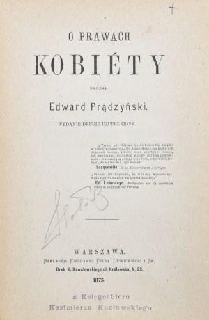 Prądzyński Edward - O prawach kobiety.