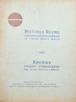 Historja ruchu niepodległościowego na terenie miasta Mielca