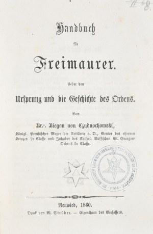 Biegoń von Czudnochowski Otto - Handbuch für Freimaurer.