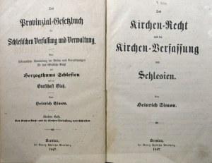 Simon Heinrich - Das Kirchen-Recht und die Kirchen-Verfassung von Schlesien