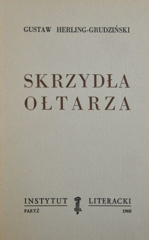Herling-Grudziński Gustaw - Skrzydła ołtarza.