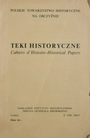 Teki historyczne. Cahiers d`Histoire-Historical Papers.