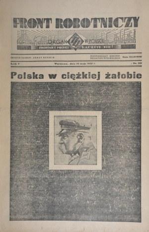 Front Robotniczy, 19 V 1935 r. Nr 20, R. V.