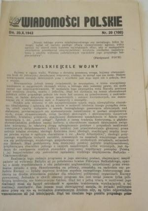 Wiadomości Polskie, 20 X 1943 r.
