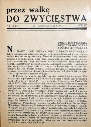 Przez walkę do zwycięstwa, 1944 r. - 2 szt.