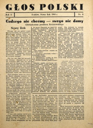 Głos Polski, I 1945 r.