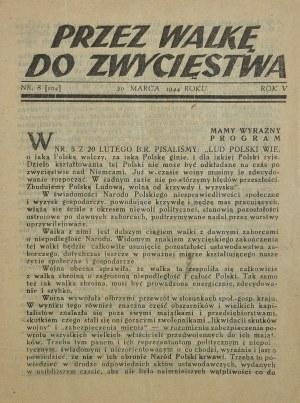 Przez walkę do zwycięstwa, 1943-1944 r.